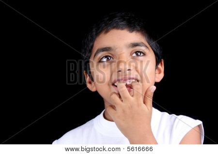 Daydreaming Indian Kid