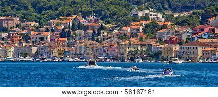 Mali Losinj, Croatia, 05.07.2011. - Adriatic Coastal Town Of Mali Losinj Waterfront And Harbor