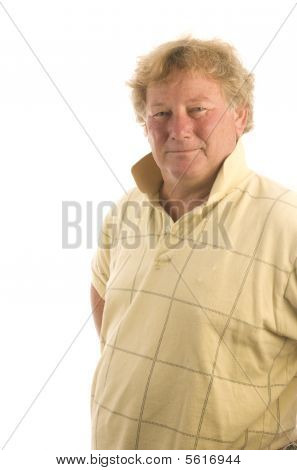 Handsome Senior Middle Age Man With Big Belly