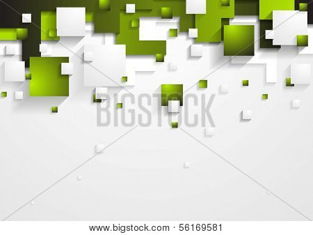 Abstract green and grey vector tech background