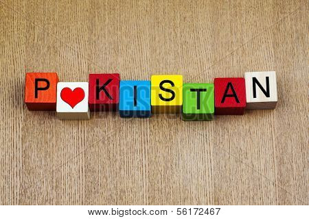 Pakistan, Sign for Countries, Travel And Place Names