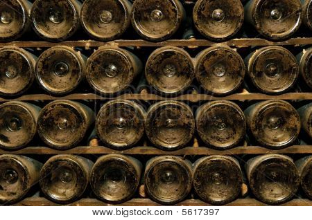 Bottles In Wine Cellar