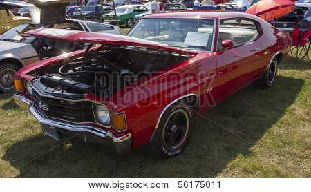 1972 Red Chevy Chevelle Ss