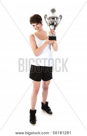 Sportwoman Has Won A Big Trophy