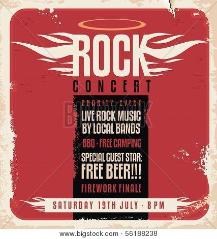 Rock concert retro poster