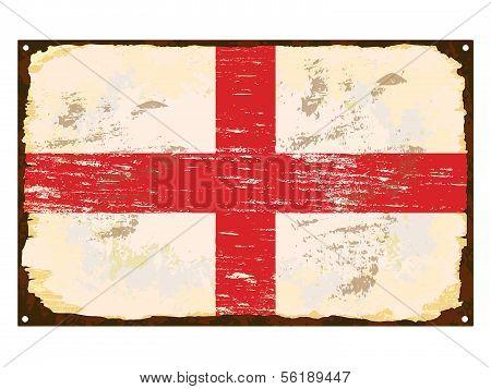 English Flag Enamel Sign