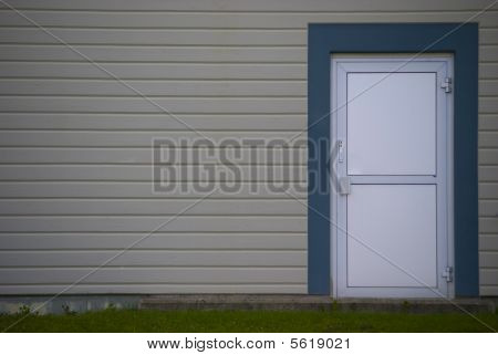 Grey Wall With Door
