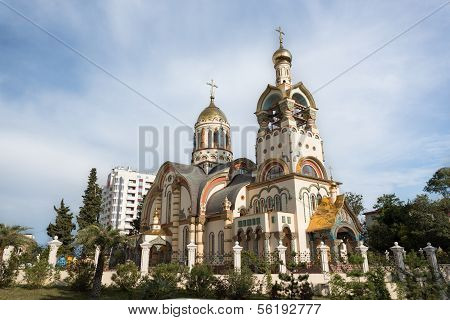 Church Of The Holy Prince Vladimir On Mount Grapevine, Russia, Sochi