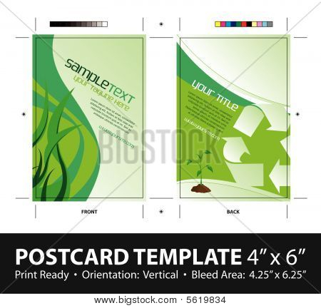Going Green Postcard Template 4 x 6