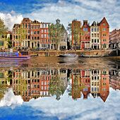 picture of unique landscape  - beautiful Amsterdam - JPG