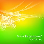 pic of ashok  - illustration of abstract India Background - JPG