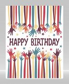 foto of reach the stars  - Happy birthday hands vector - JPG