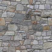 stock photo of wall-stone  - a seamless high resolution repeating stone wall pattern - JPG