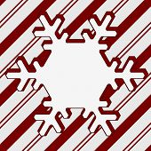 pic of candy cane border  - Candy Cane Striped Christmas Background with center snowflake copy - JPG