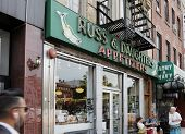 NEW YORK CITY, USA - JUNE 12: Russ & Daughters is a famous appetizing store opened in 1914. It is lo