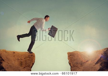 Leaping Businessman