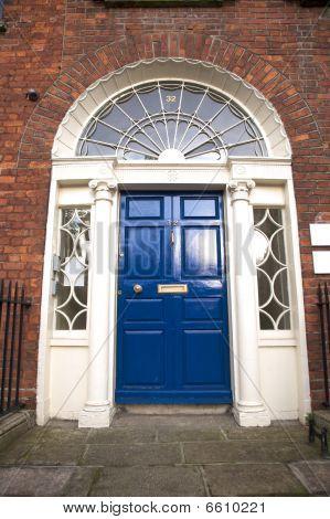 Blue Classic Door