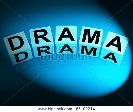 Drama Dice Indicate Dramatic Theater Or Emotional Feelings