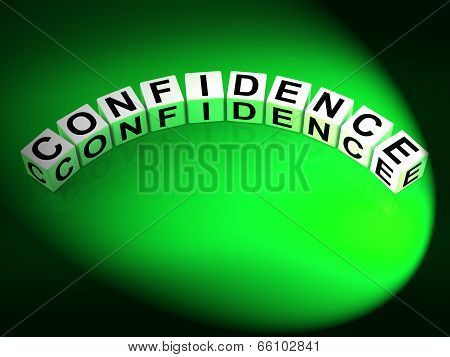 Confidence Letters Mean Believe In Yourself And Certainty