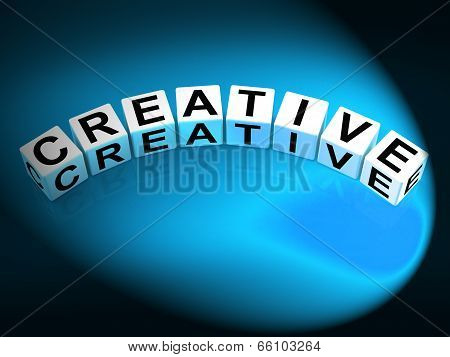 Creative Dice Mean Innovative Inventive And Imaginative