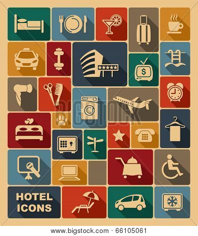 Icons on a hotel theme
