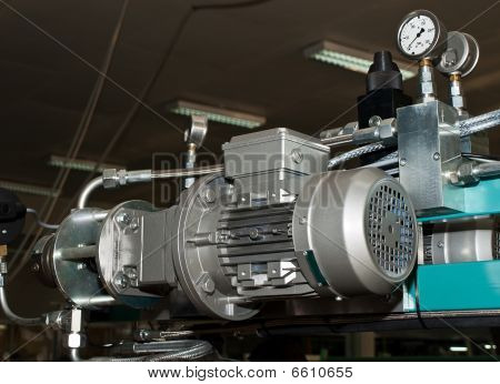 Electrical And Pressure Measurement Parts Of Machine