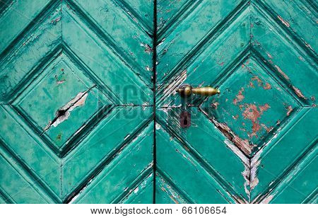 Fragment Of Old And Dilapidated Doors