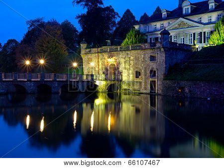 Old Castle Of Town Bad Pyrmont In Germany
