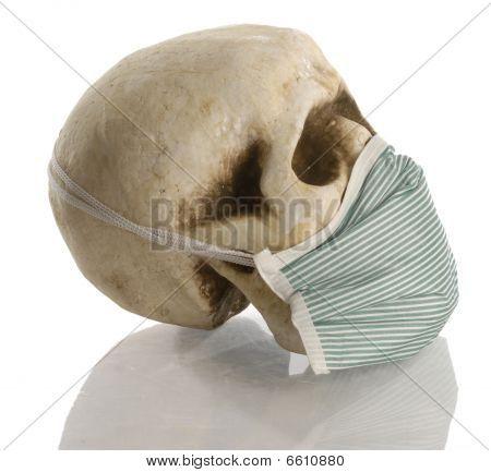 Skull Wearing Mask