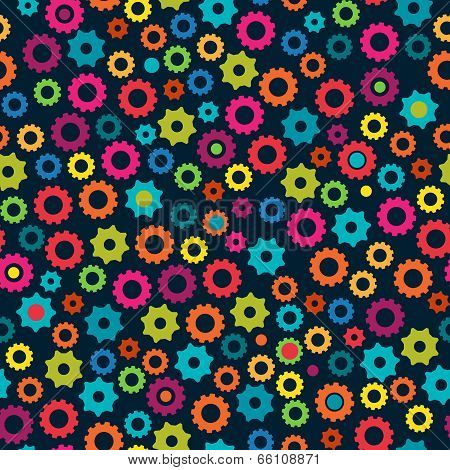 Seamless Tileable Vector Background Pattern with Gears