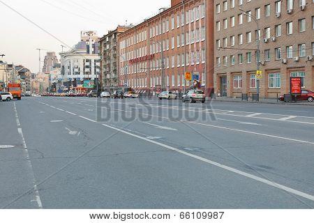 Novoslobodskaya Street In Moscow In Summer Evening