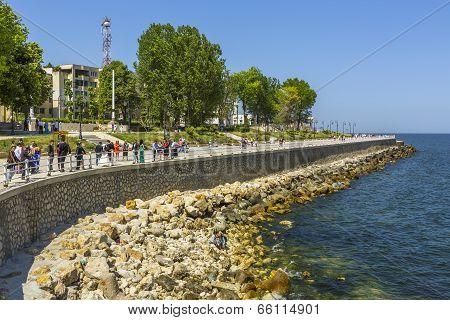 Seawall In Constanta, Romania