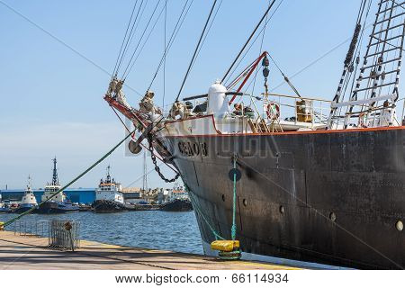 Anchored Tall Ship Keel