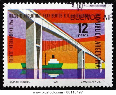Postage Stamp Argentina 1976 Rio De La Plata International Bridg