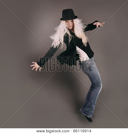 Dancing Woman With Moving Pose