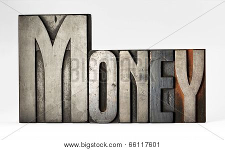 Old Sorts Or Printers Blocks Spelling - Money