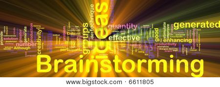 Brainstorming Word Cloud Glowing