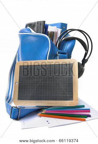 Slate With Teen School Supplies