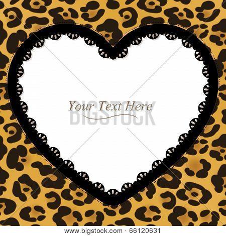 Leopard Print Heart Frame