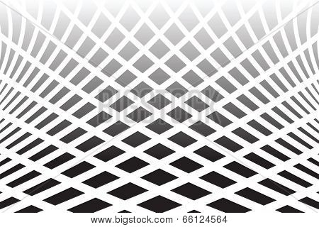Textured distorted surface. Abstract op art  background. Vector art.
