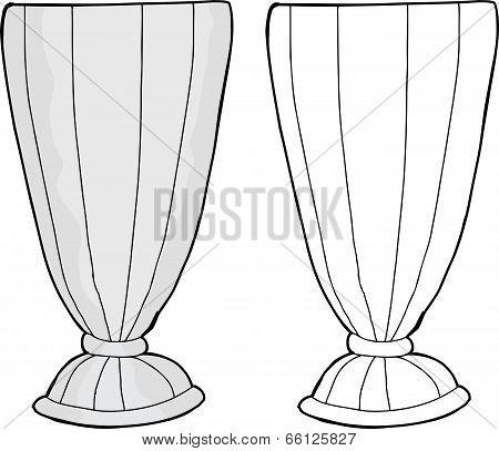 Empty Milkshake Glass
