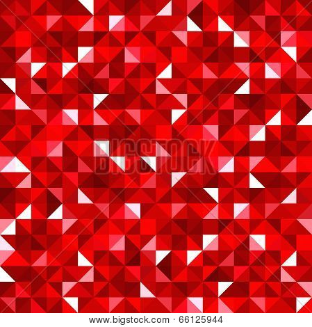 Abstract seamless background with red mosaic pattern. Vector EPS-10.