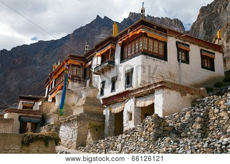 Lingshed (lingshet, Lingshot) Gompa - Buddhist Monastery In Zanskar Valley - Ladakh - Jammu And Kash