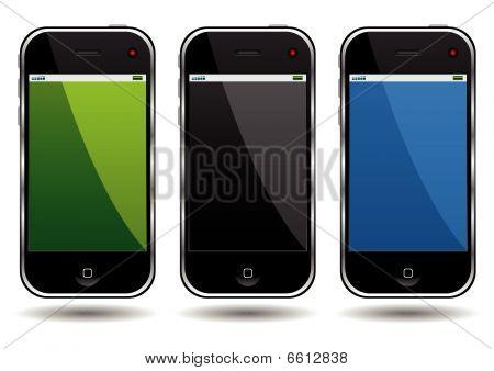 Teléfonos celulares modernos
