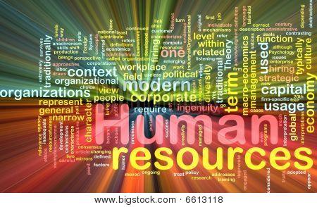 Recursos humanos fondo concepto que brilla intensamente