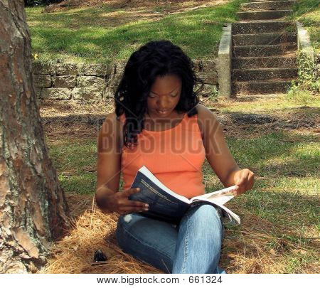 African American Female Studying 2