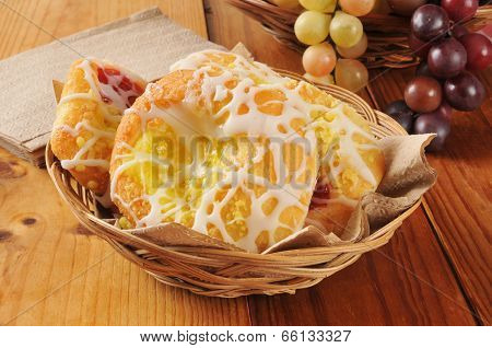 Basket Of Danish Pastries
