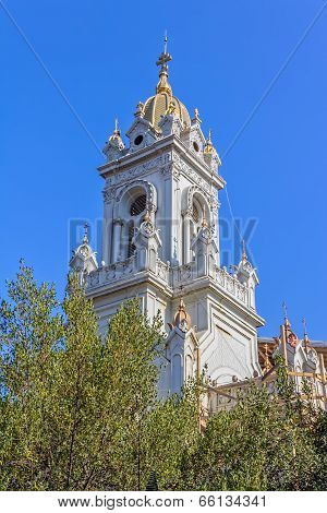 Tower of St Stephen Church in Istanbul