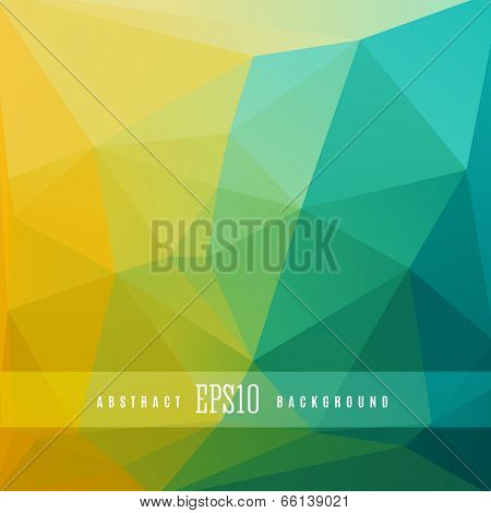 Triangle colorful abstract design background template