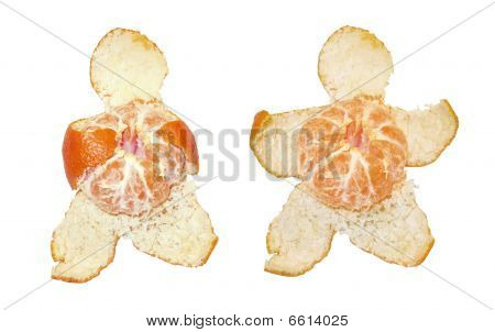Orange mandarine Tangerine Dream with clipping path